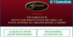 Casino Grand Hôtel, un casino en ligne Microgaming doté de 600 jeux.