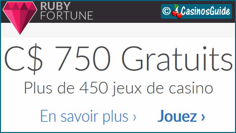 Ruby Fortune, un casino qui a misé sur une licence européenne de jeux.